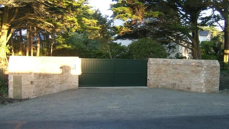 Cl ture muret portail la baule gu rande saint nazaire - Mur de cloture en pierre ...