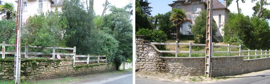 loture mur en pierre portail La Baule Guérande Saint Nazaire
