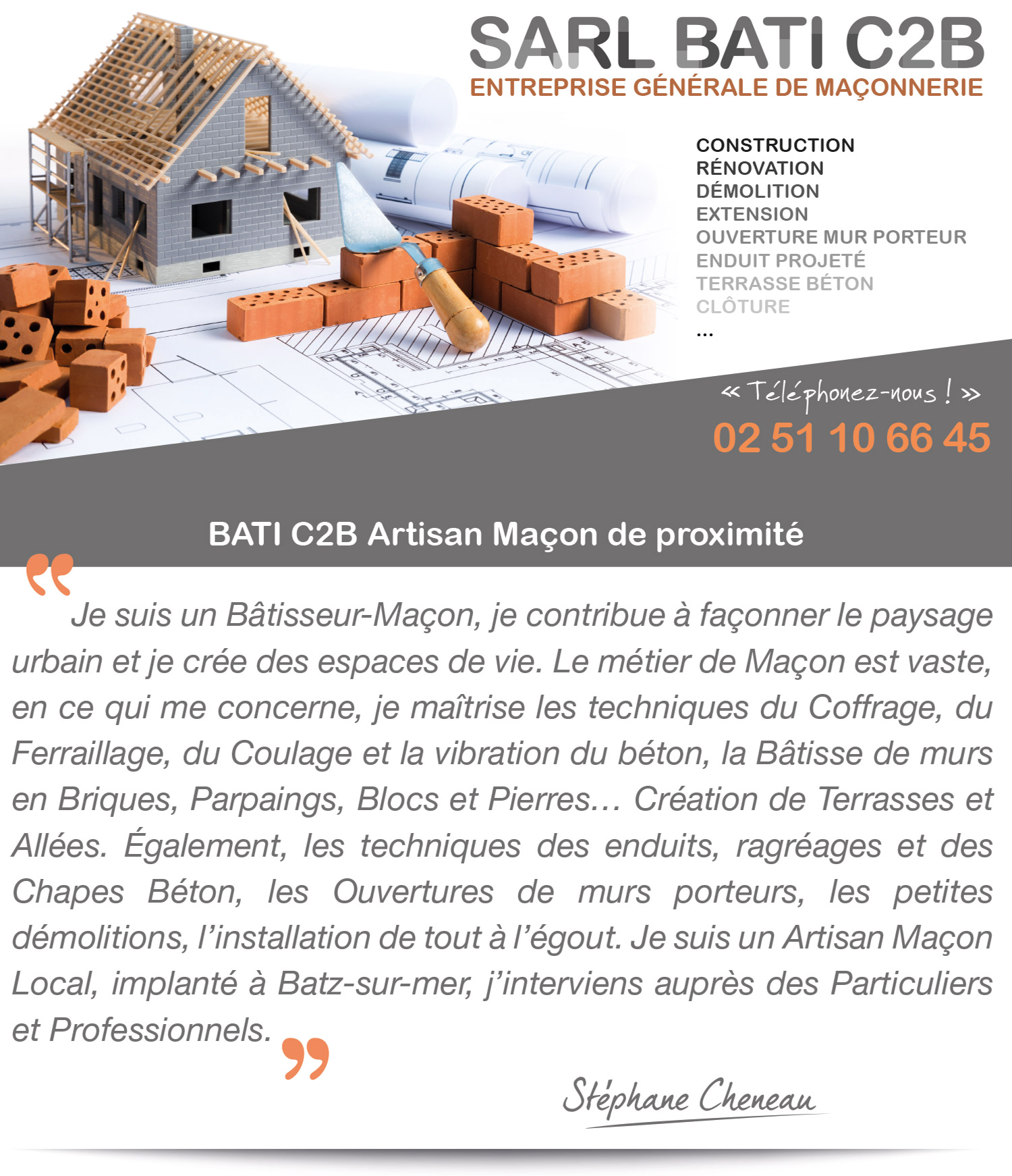 Maçonnerie générale La Baule Guérande Pornichet