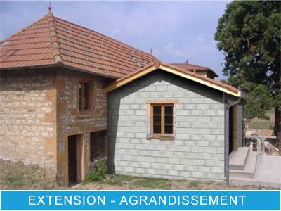 Extension maçonnerie Muret La Baule Guérande Pornichet