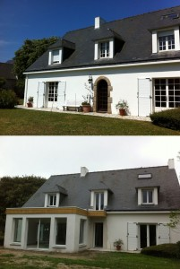 Extension agrandissement habitat La Bauel Guérande Saint Nazaire