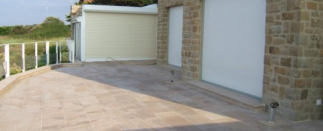 Terrasse dallage pave beton La Baule Guerande Saint Nazaire